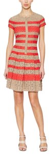 BCBGMAXAZRIA short dress Coral and Beige on Tradesy