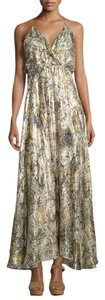 Haute Hippie Long Full Length Gown Metallic Lurex Dress
