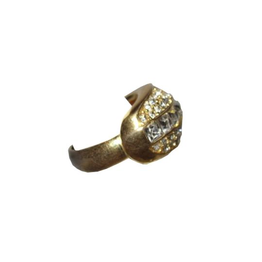 Dior Christian Dior 18 kt Gold Plated Rhinestone Pave Ring Image 1