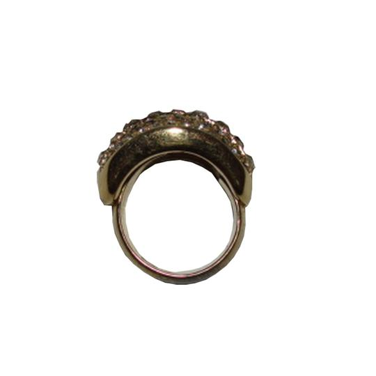 Dior Christian Dior 18 kt Gold Plated Rhinestone Pave Ring Image 3