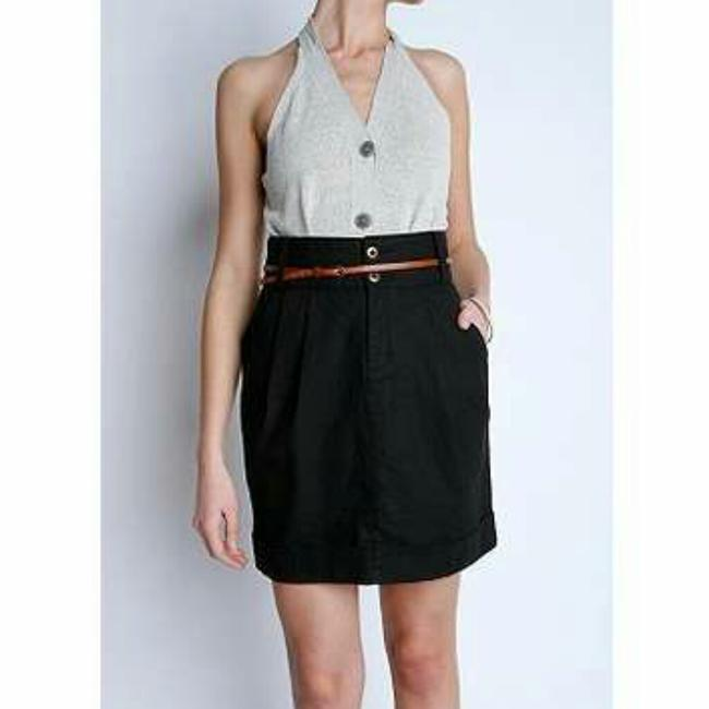 Silence + Noise Urban Outfitters High Waist Mini Skirt Black Image 1