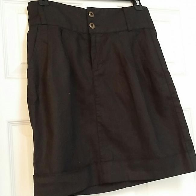 Silence + Noise Urban Outfitters High Waist Mini Skirt Black Image 2