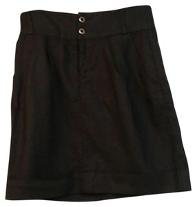 Silence + Noise Urban Outfitters High Waist Mini Skirt Black