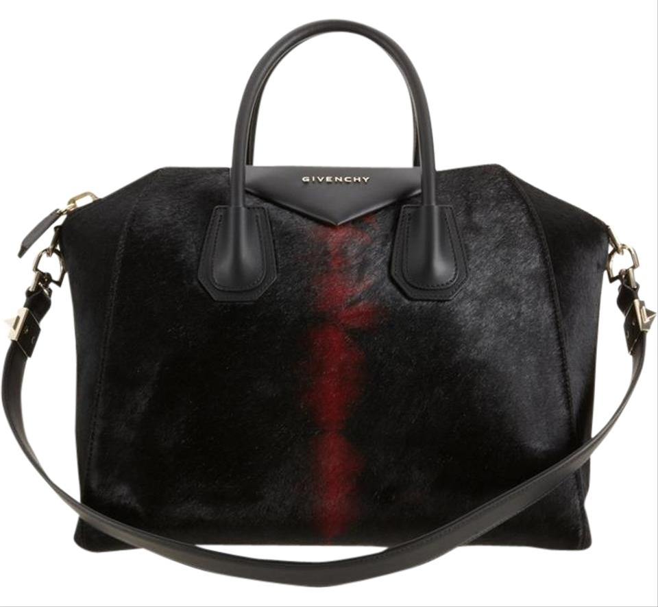 37c1a7d861e7 Givenchy Medium Antigona Tie Dye Black Red Pony Hair Satchel - Tradesy