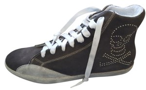 Cult Italian Suede Trainers Rocker Punk Gray Athletic