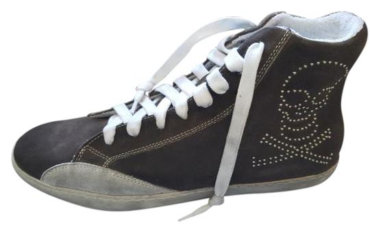 Cult Italian Suede Trainers Rocker Punk Gray Athletic Image 0