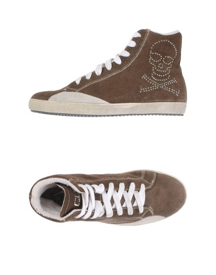 Cult Italian Suede Trainers Rocker Punk Gray Athletic Image 2