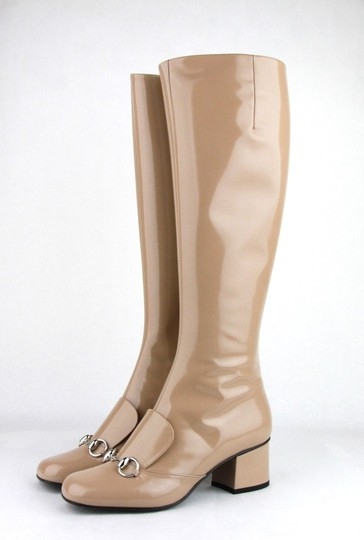 Gucci Women's Patent Leather Camel Boots