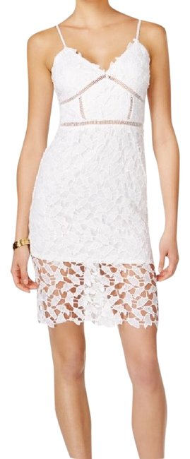 Preload https://img-static.tradesy.com/item/22110651/bar-iii-white-lace-mid-length-night-out-dress-size-12-l-0-1-650-650.jpg