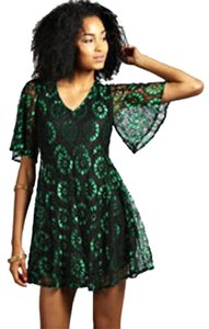 short dress Black/Green on Tradesy