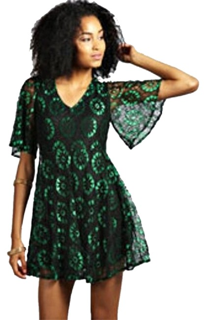 Other short dress Black/Green on Tradesy