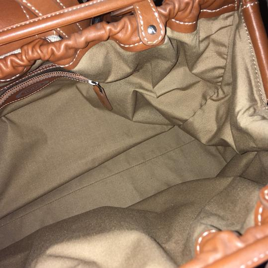 Tod's Vintage Limited Edition Satchel in tan beige canvas linen Image 4