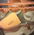 Tod's Vintage Limited Edition Satchel in tan beige canvas linen Image 5