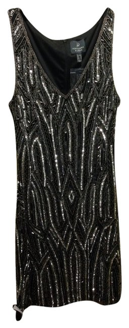 Preload https://img-static.tradesy.com/item/2211084/adrianna-papell-black-and-gray-short-beaded-cocktail-night-out-dress-size-4-s-0-0-650-650.jpg