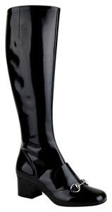 Gucci Women's Patent Leather Black Boots