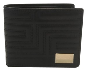 Versace NEW Versace Men's Black Leather Wallet DPU4391