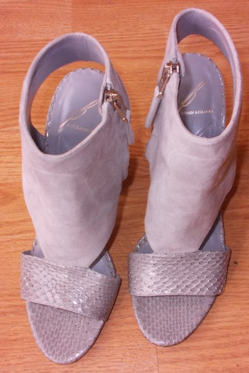 Brian Atwood Gray Sandals Image 1