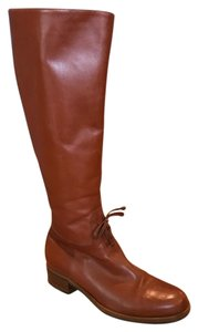 Henry Cuir Leather Preppy Horse Country Chic Effortless Chic Mahogany Brown Boots