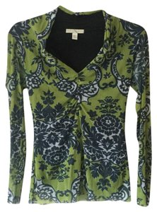 Weston Wear Paisley Classic Nylon Fall Top Multi- Lime Green, black and white