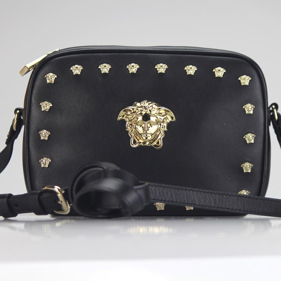 06c9fd1f55c Versace New Palazzo Camera Black Leather Shoulder Bag - Tradesy