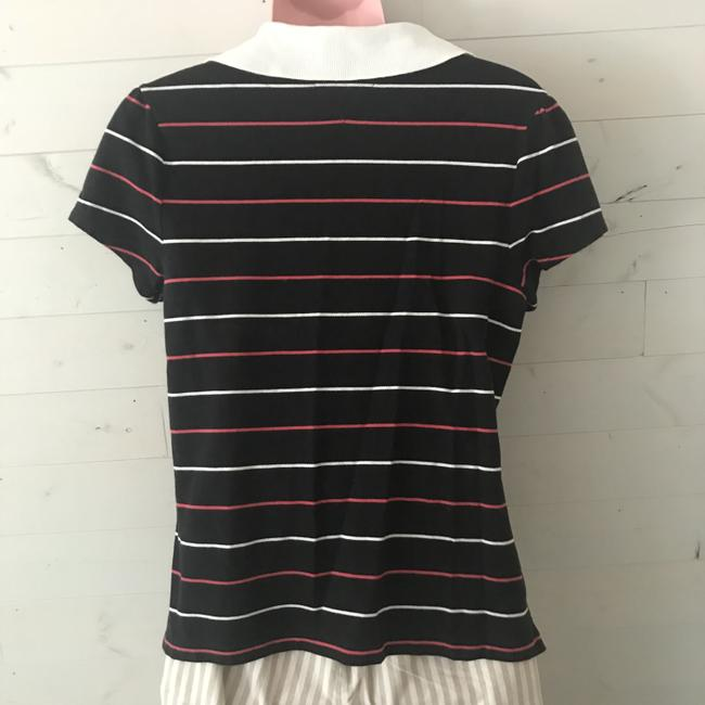 Tommy Hilfiger Polo Womens Top Black with Stripes Image 3