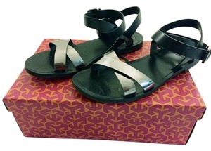 Tory Burch Gladiator Sandal Flat Navy & Pewter Sandals