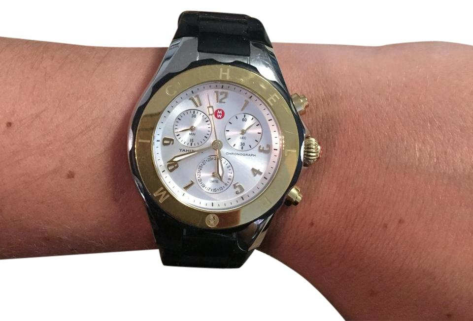 5cece524d Michele Tahitian Jelly Bean Gold Plated Watch, 40mm Image 0 ...