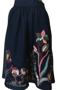 Anthropologie Skirt navy Blue