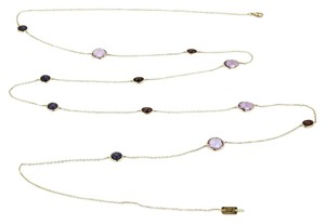 Ippolita Rock Candy Iolite Amethyst Garnet 18k Gold Necklace