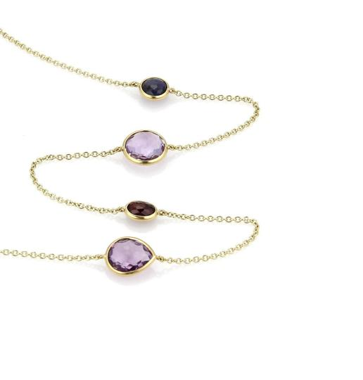 Ippolita Rock Candy Iolite Amethyst Garnet 18k Gold Necklace Image 2