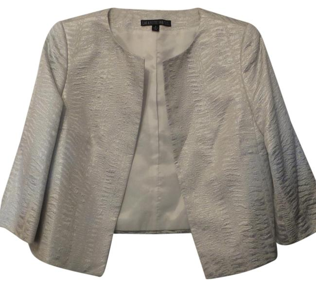 Lafayette 148 New York Light Silver Jacket Image 0