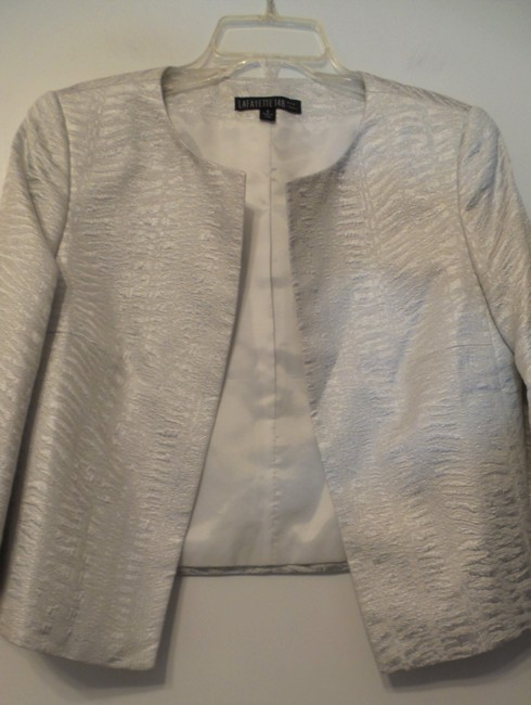 Lafayette 148 New York Light Silver Jacket Image 1