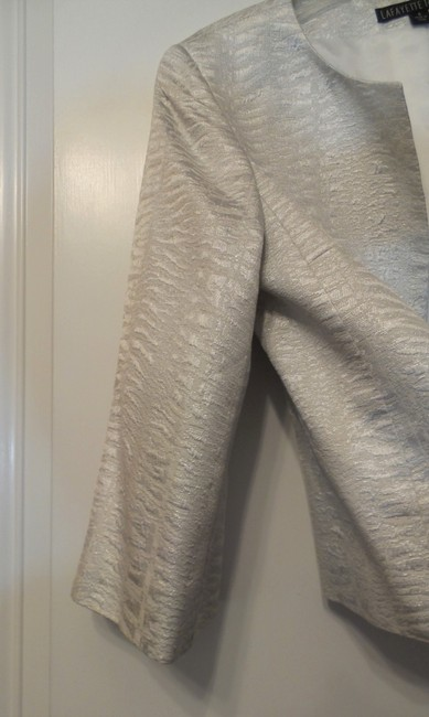 Lafayette 148 New York Light Silver Jacket Image 4