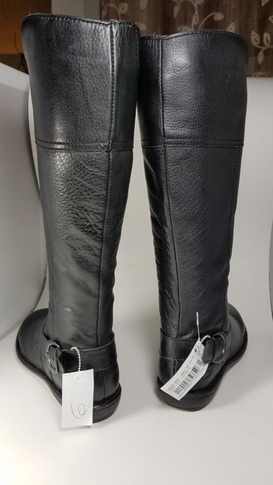 05948d974bb Børn Black New Benzema Womens Leather Knee High Boots Booties Size ...