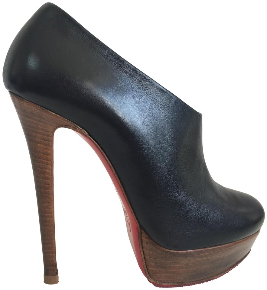 5b10e3e9f8b Christian Louboutin Black Moulage 38it High Heel Lady Red Sole Zip Leather  Platform Ankle Boots Booties