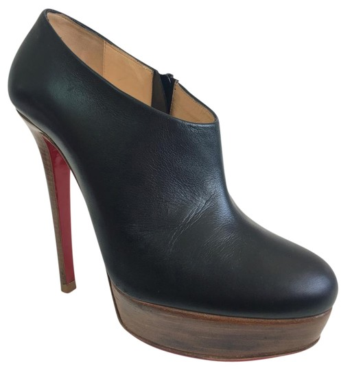 Christian Louboutin Thigh High Ankle Platform Black Boots Image 1