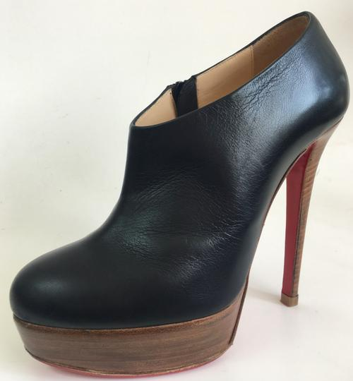 Christian Louboutin Thigh High Ankle Platform Black Boots Image 2
