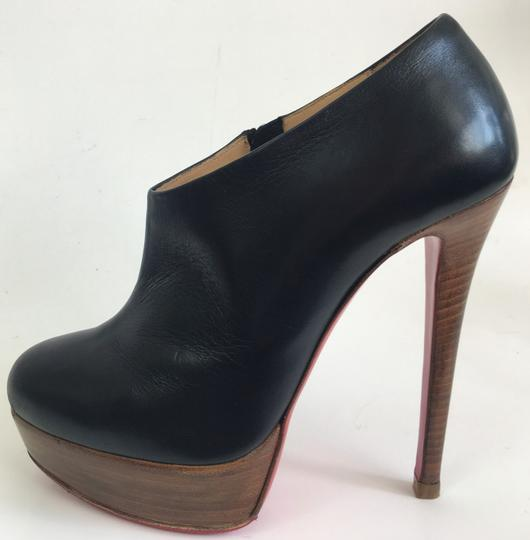 Christian Louboutin Thigh High Ankle Platform Black Boots Image 3