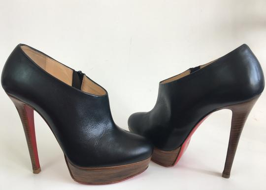 Christian Louboutin Thigh High Ankle Platform Black Boots Image 4