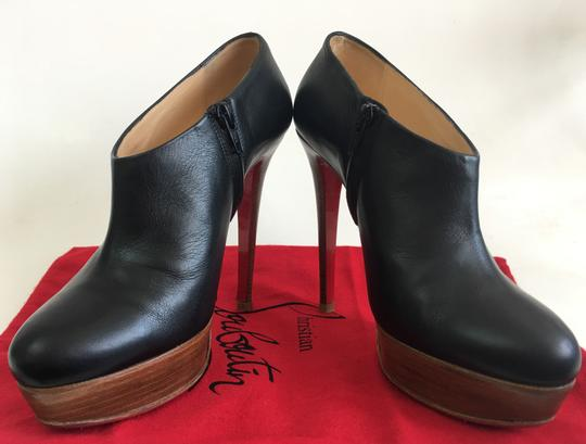 Christian Louboutin Thigh High Ankle Platform Black Boots Image 6