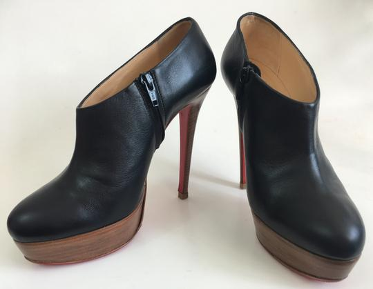 Christian Louboutin Thigh High Ankle Platform Black Boots Image 7