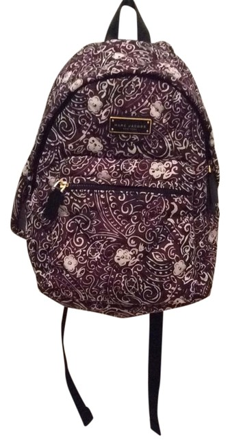 Item - Quilted Paisley Purple Nylon Backpack