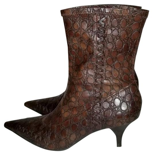 Gianni Bini Pull On Size 8 Narrow Brown Boots Image 0