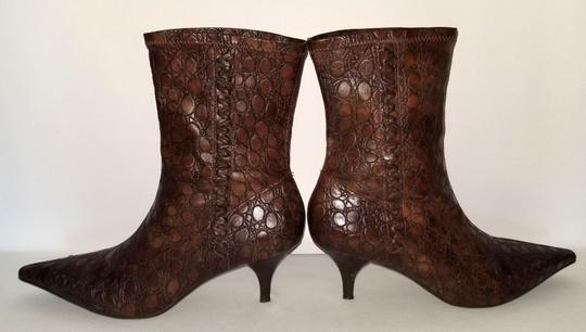 Gianni Bini Pull On Size 8 Narrow Brown Boots Image 4