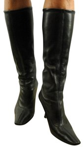Prada Leather Stretch Leather Pointy Toe Brown Boots