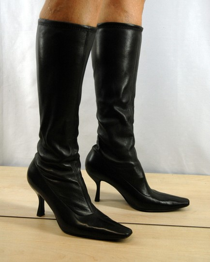 Prada Leather Stretch Leather Pointy Toe Brown Boots Image 2