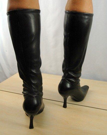 Prada Leather Stretch Leather Pointy Toe Brown Boots Image 4