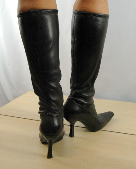 Prada Leather Stretch Leather Pointy Toe Brown Boots Image 5