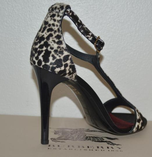Burberry Prorsum Round Toe Leopard Pony Multi Color Sandals Image 1