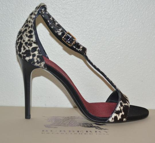 Burberry Prorsum Round Toe Leopard Pony Multi Color Sandals Image 2
